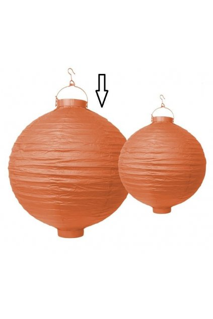 Papírový svítící lampion - oranžový