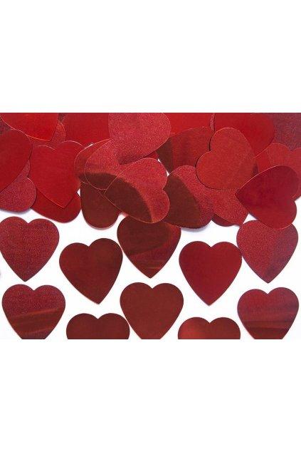 Romantické konfety - srdíčka