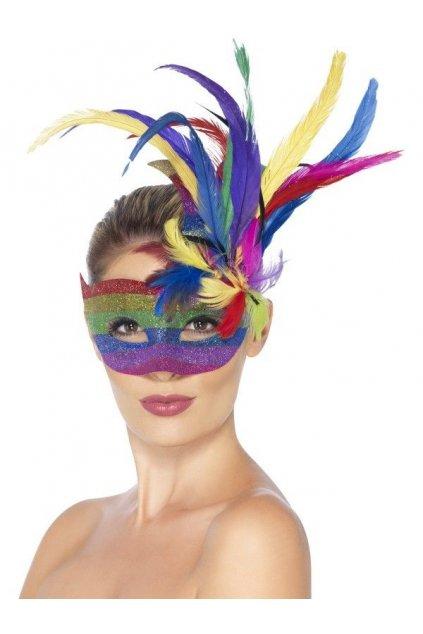 Karnevalová maska duhová