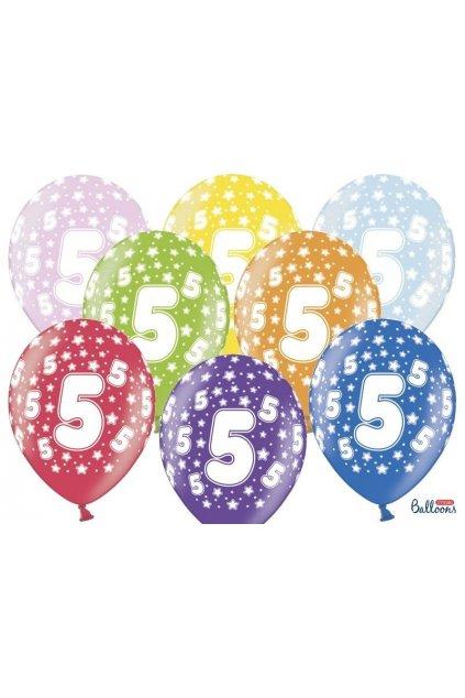 Narozeninový balónek s číslem 5