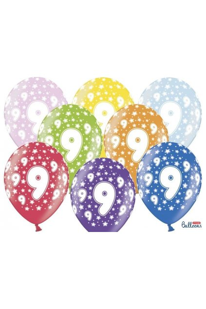Narozeninový balónek číslo 9