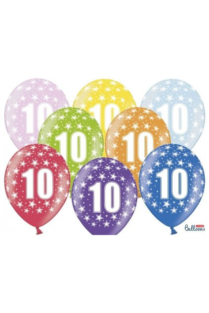 Narozeninový balónek číslo 10