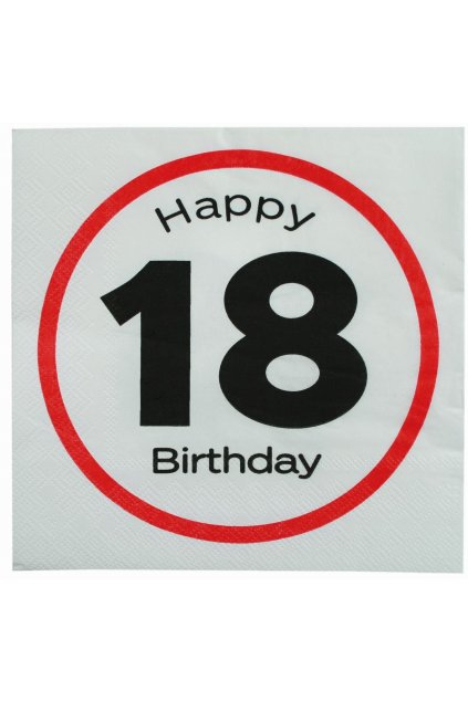 Narozeninové ubrousky - Happy Birthday 18