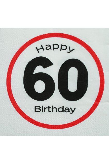 Narozeninové ubrousky - Happy Birthday 60