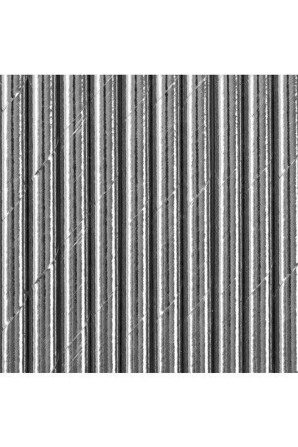 Papírová brčka - stříbrné - 10ks