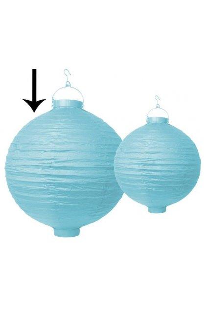 Závěsný svítící lampion - světle modrý