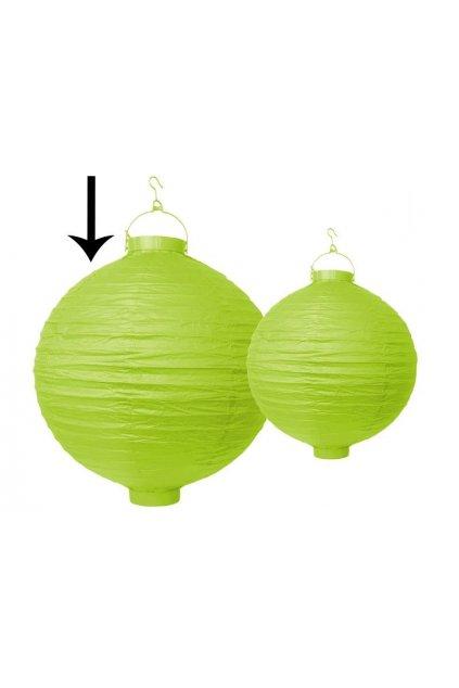 Závěsný svítící lampion - zelený