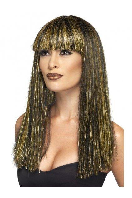 Černozlatá Egyptská paruka