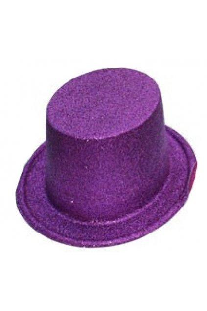Párty klobouk - cylindr vysoký - fialový