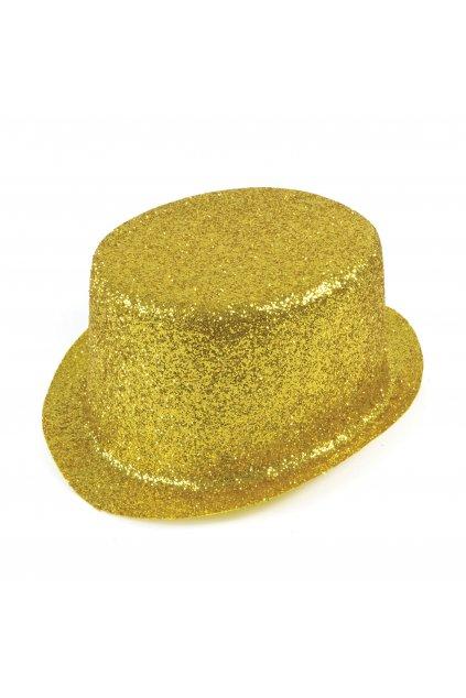 Párty klobouk - cylindr zlatý
