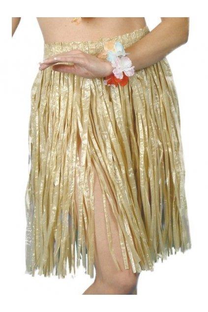 Hawaiská sukně Hula - béžová
