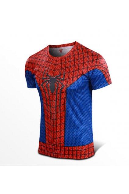 Spiderman triko - červené