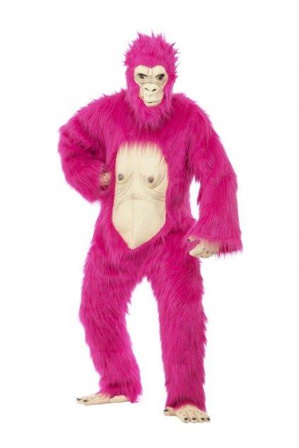 Kostým růžová gorila