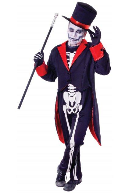 Děsivý kostým z podsvětí Kostlivec