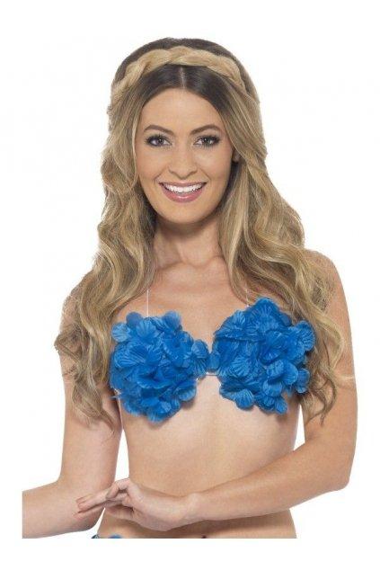 Havajská květinová podprsenka - modrá
