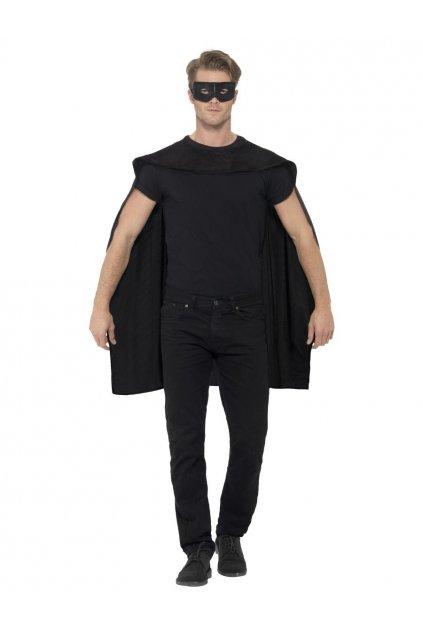 Černý plášť s maskou