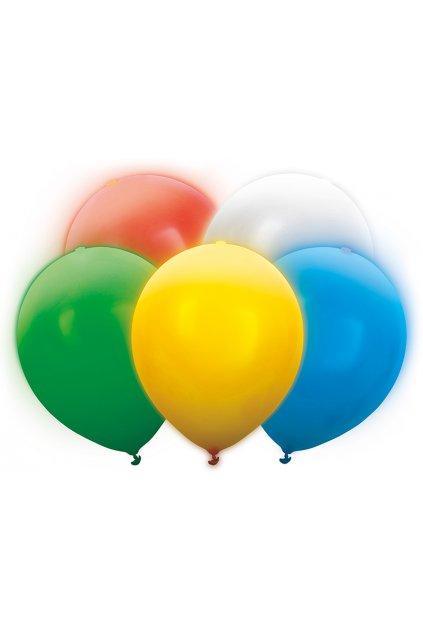 Svítící nafukovací balónky - 5ks - mix barev