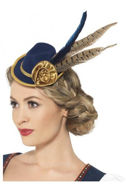 Bavorský dámský klobouček se sojčím pérkem