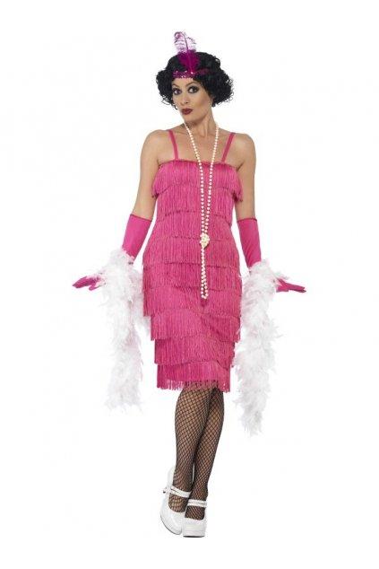 Kostým prohibice růžový