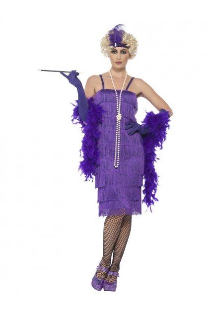 Kostým 20. léta - fialový