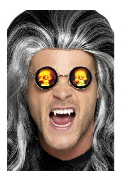 Brýle kulaté - lenonky s lebkou
