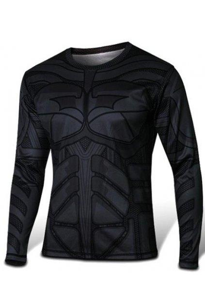 Batman triko s dlouhým rukávem - černé
