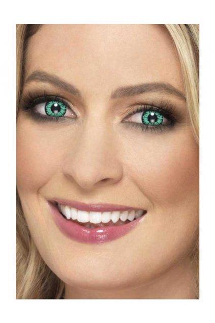 Zelené kontaktní čočky