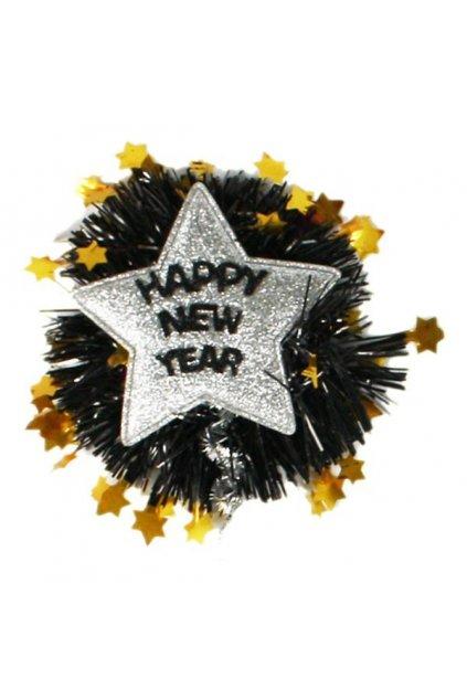 Brož happy new year stříbrná