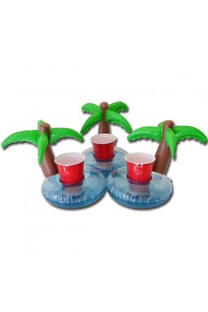 Nafukovací palma - držák na nápoje