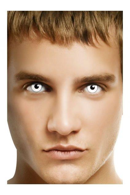Barevné kontaktní čočky bílé - manson