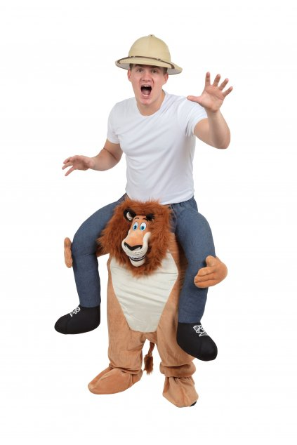 Kostým lva Alexe z Madagaskaru - piggyback