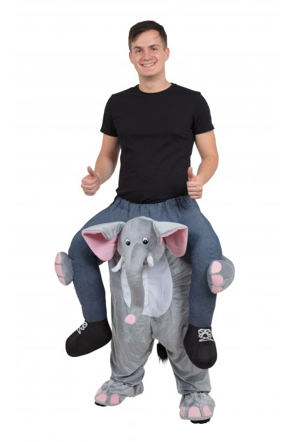 Kostým jezdec na slonovi - piggyback