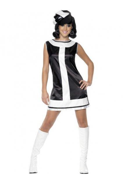 Retro kostým černobílý
