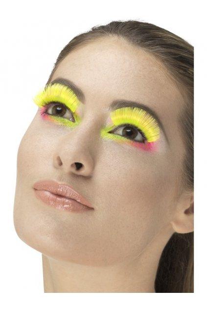 Řasy neonové žluté