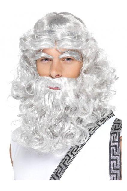 Zeus sada - paruka, vousy, obočí