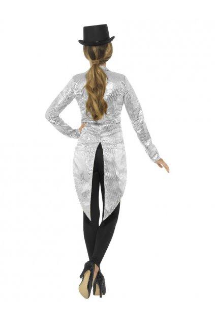 Flitrované dámské sako - stříbrné
