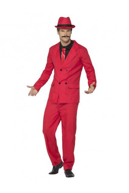 Pánský kostým - Mafián červený