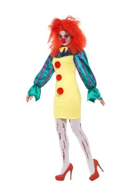 Kostým klauna dámský děsivý