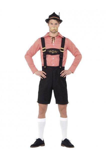 Kostým bavorského muže - červený
