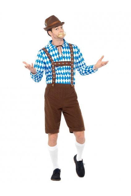 Kostým bavorského muže - modrý