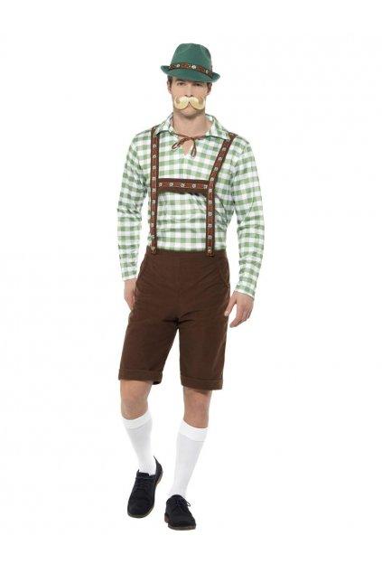 Kostým bavorského muže - zelený