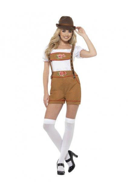 Sexy kostým bavorky - bílý