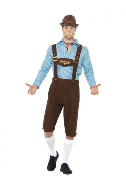 Kostým bavorského muže Modrý