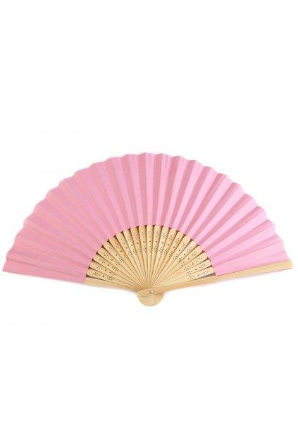 Růžový vějíř - papírový