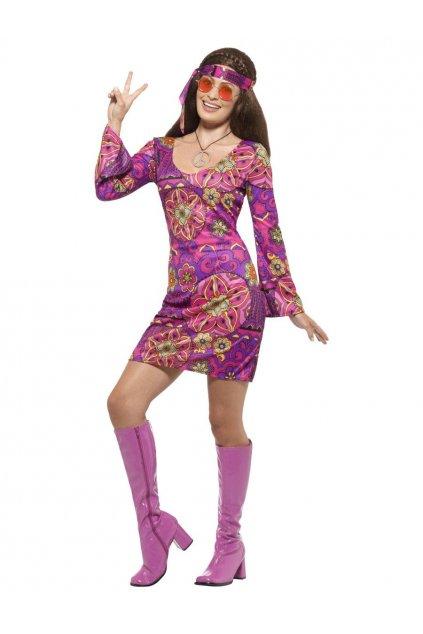 Hippie šaty fialové