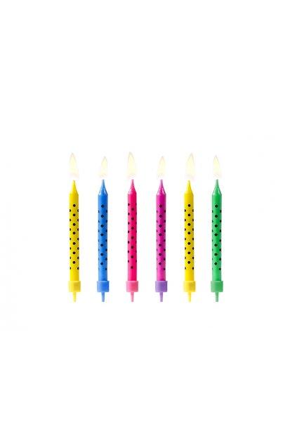Dortové svíčky puntíkované