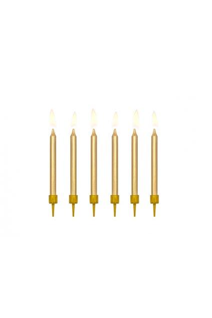 Dortové svíčky zlaté 6ks