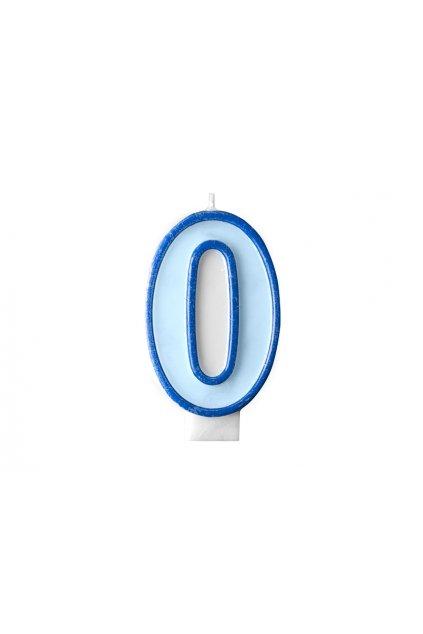 Dortová svíčka modrá - číslo 0
