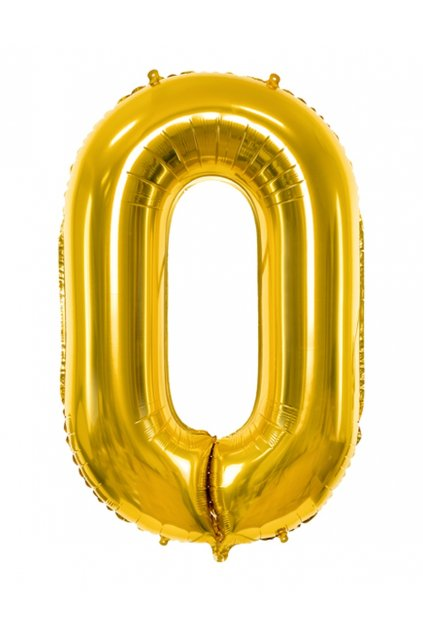 Fóliový balónek číslo 0 - zlatý 86cm