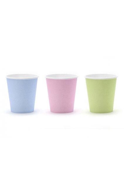 Párty kelímky - pastelové barvy